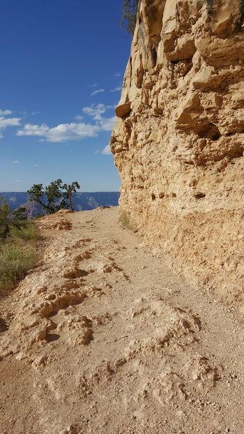 Bright Angel Trail Curve Hiking Hiking Trail Grand Canyon National Park South Rim Canyon Arizona Blue Sky Landscape