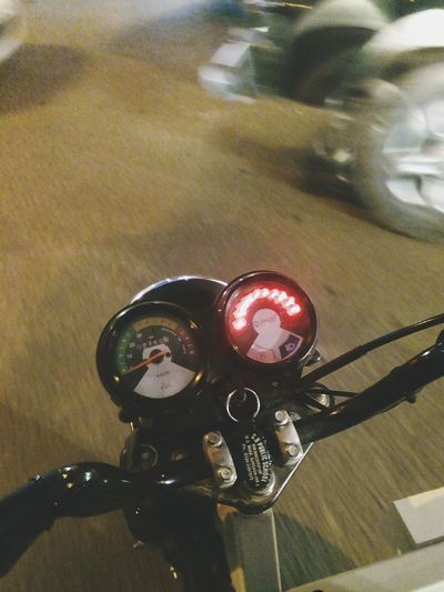 The OO Mission Electric Auto-riksha Indicators Led Lights  On Road Photography Mobile Photography Night Photography
