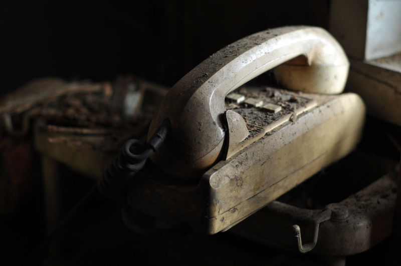Close-Up Of Old Telephone