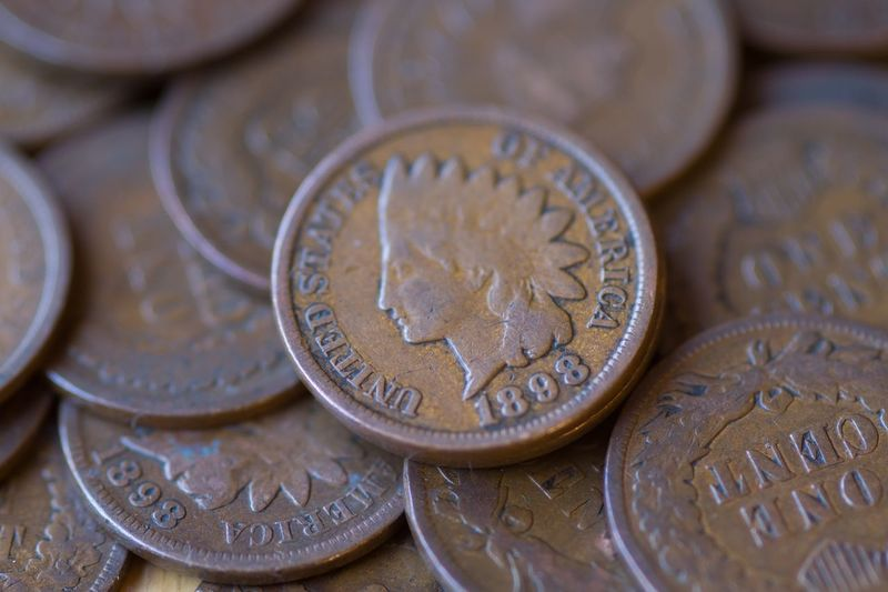 Indian Head Penny Coin Finance Wealth Currency Savings Metal No People