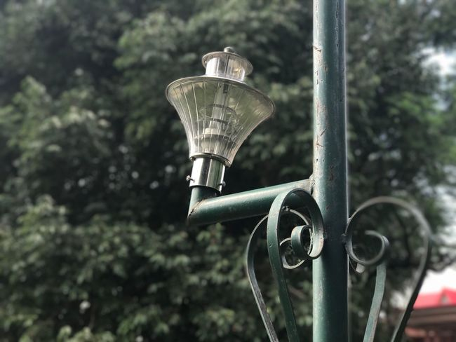 Vintage lamp Metal No People Day Outdoors Focus On Foreground Tree Architecture Close-up Utkarsh Agarwal Clear Sky Green Lamp Lamp Post Light EyeEmNewHere