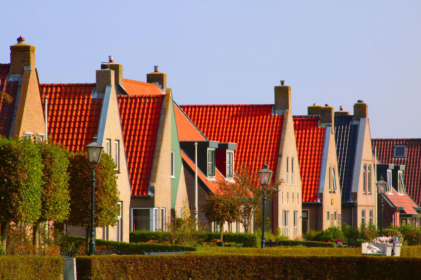 European  Schiermonnikoog Architecture Building Exterior Built Structure Clear Sky Day House Netherands No People Outdoors Residential Building Sky Town Tree