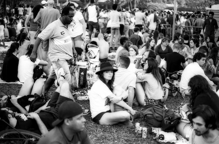 Monochrome Photography Large Group Of People Sitting Casual Clothing Community Outdoors Day Event Film Film Is Not Dead Sao Paulo - Brazil The Purist (no Edit, No Filter) 35mm Film Streetphotography Blackandwhite Black And White Bwn