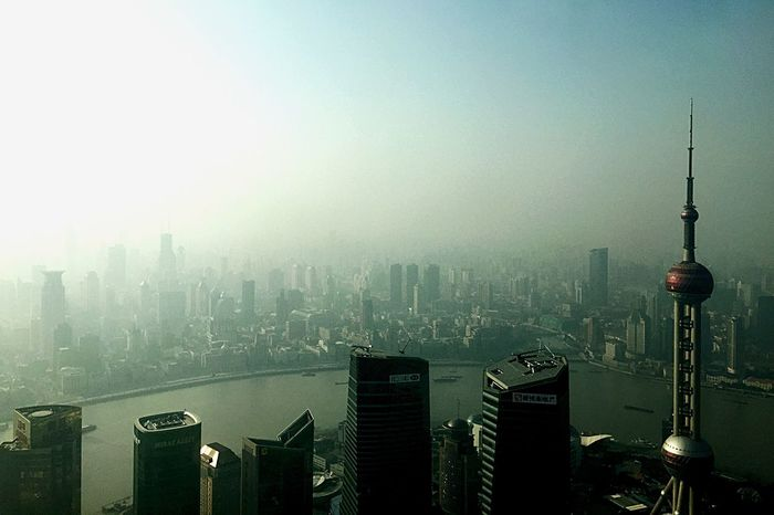 Enjoying The View Urban Landscape Pollution In My World Hello Pollution Tower Building Asian Culture Amazing Architecture Cityscapes Seeing The Sights