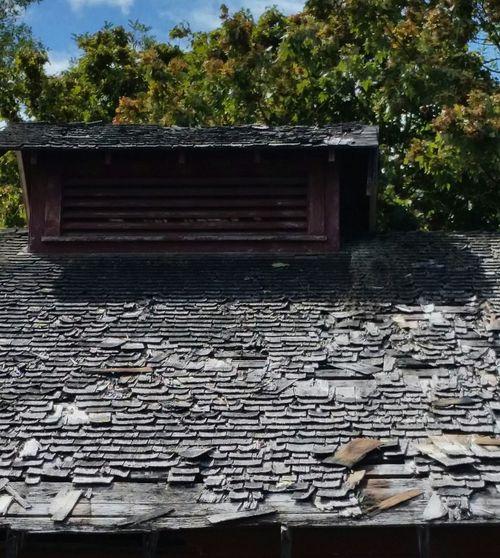 Shingles on barn. Old Barns Architecture Shingles Derelict