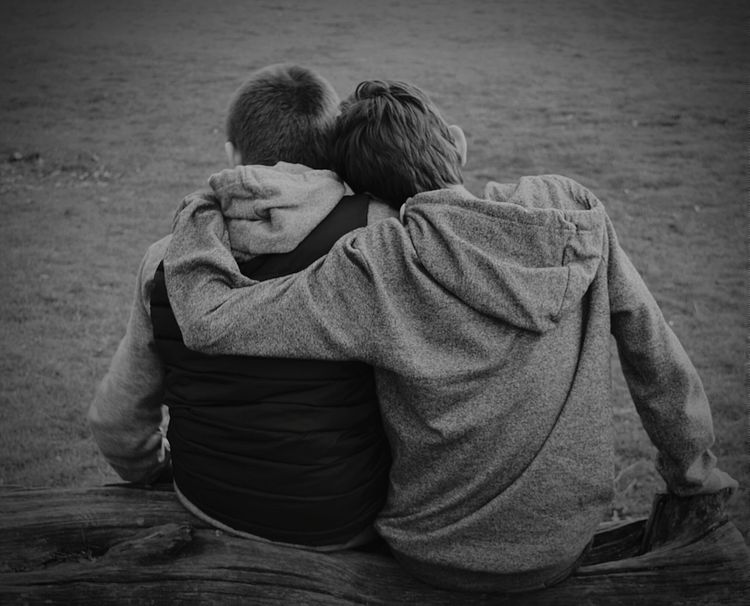 Brotherly Love Brothers Brotherly Love Love Togetherness Bonding Time Young Boys My Sons Siblings Black And White Photography Black And White Black & White Nikon D3200