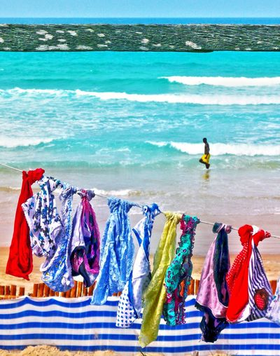 Summer ☀ Yeah! Sea Beach Summer Summertime Beach Time Living By The Sea Multi Colored Outdoors Vacations Water Wave Africa Mozambique Sommergefühle Mix Yourself A Good Time Fashion Stories