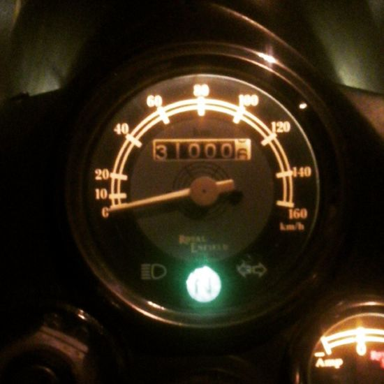Wohoo! She completed 31000 kms today! Royalenfield Matilda 31k RideOrDie Rideon