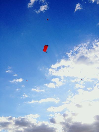 Beautiful day Sunny Day Parachute Adrenaline Blue Clouds Clouds And Sky Flying Sunday Capturing Freedom