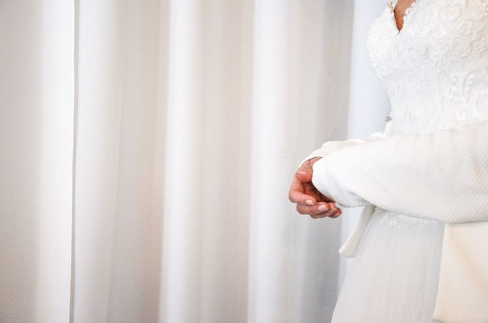 Anticipation White Color Wedding Dress Bride Indoors  Curtain One Person Life Events Human Body Part Real People Day Only Women Human Hand Young Adult Adult Close-up People Adults Only White Curtain Wedding Day Anticipation Celebration Marriage  Be. Ready.