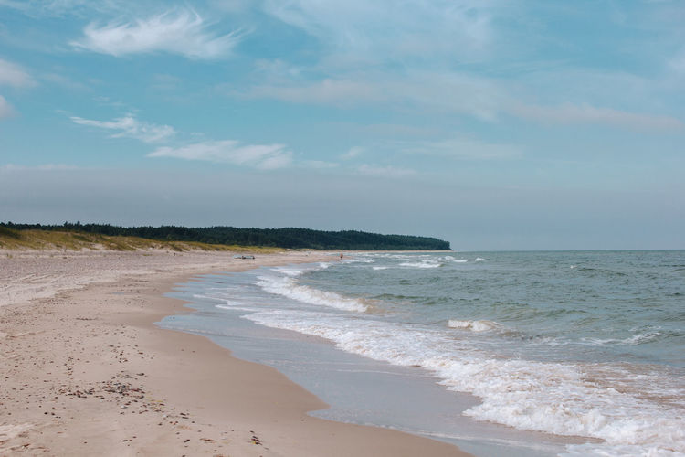 Latvia Latvija Aquatic Sport Beach Beauty In Nature Cloud - Sky Day Horizon Horizon Over Water Land Motion Nature Outdoors Sand Scenics - Nature Sea Sky Sport Surfing Tranquility Ventspils Water Wave