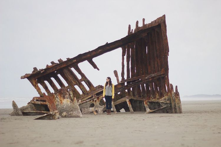 The shipwreck. Pacific Northwest  On The Road Oregon Beach