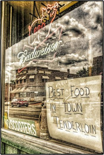NO SCOOTERS ~ BEST TENDERLOINS ~ Saint Joseph, Missouri USA ~ Cityscape Landscape Dreamscapes Roadside America Neon Pig Signs Dreamscapes & Memories Dive Bars Relic From The Past Divelandscape, Divestreetoghrophy, Cityscape, Theappwhisperer Saint Joseph