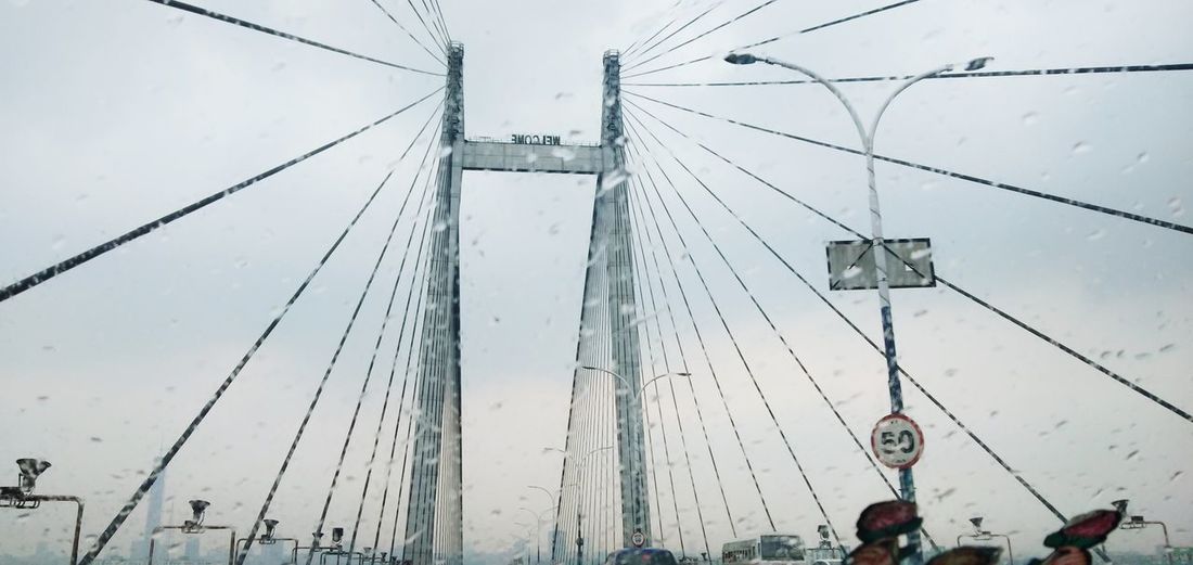Howrah at a glance #bridge #howrahbridge Technology Cable City Hanging