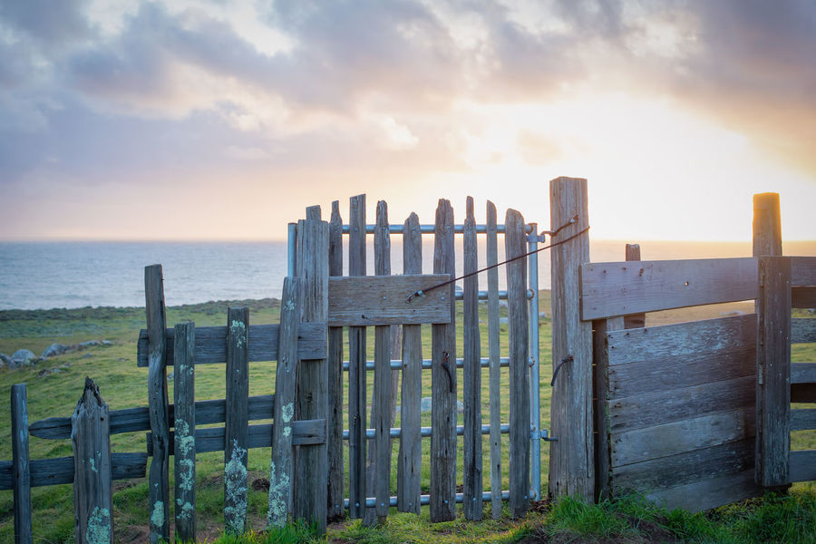 Fort Ross, California California Travel USA WestCoast Barrier Beach Beauty In Nature Cloud - Sky Fort Ross Horizon Horizon Over Water Land Nature No People Outdoors Pacific Ocean Scenics - Nature Sea Security Sky Sunset Tranquil Scene Tranquility Water Wood - Material EyeEmNewHere #FREIHEITBERLIN The Architect - 2018 EyeEm Awards The Street Photographer - 2018 EyeEm Awards The Great Outdoors - 2018 EyeEm Awards Creative Space The Traveler - 2018 EyeEm Awards