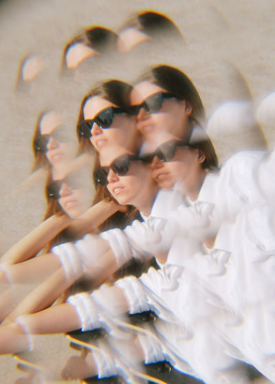 Sunglasses Fashion Glasses Women Young Women Young Adult People Leisure Activity Lifestyles Beautiful Woman Females Reflection Portrait Kaleidoscope Kaleidoscopic Girl Female Girls Illusion Multiple Image Duplication Reproduction Copying  Real People