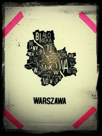 Exploring Warsaw City Map Screen Printing Mywork