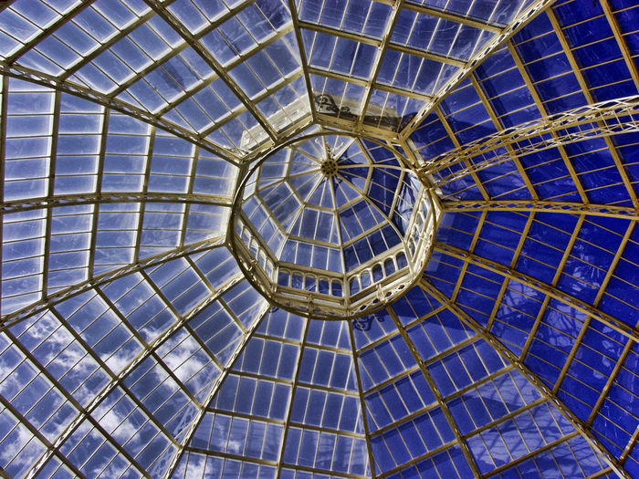 Architecture Built Structure Dome Glass Roof Indoors  Liverpool, England Low Angle View No People Palm House Sky Spider Web
