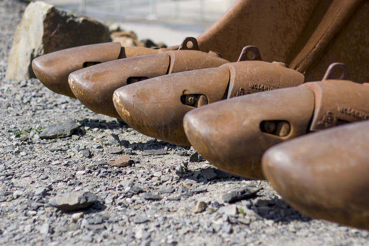 Backhoe Backhoe Shovel Baggerschaufel Rusty Technics Technik