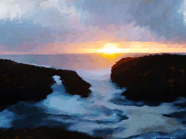 Coastal Pacific Ocean Headlands From My Point Of View Graphic Design Sunset Childhood Home Breathtaking