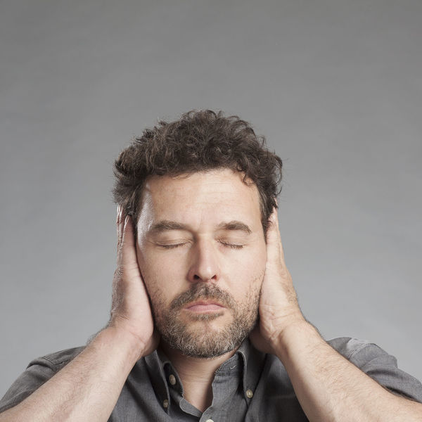 Listening Man Negative Not Senses Close-up Closed Ears Hands Covering Ears Hearing Impairment Male Mood One Person People Portrait Shut Studio Shot