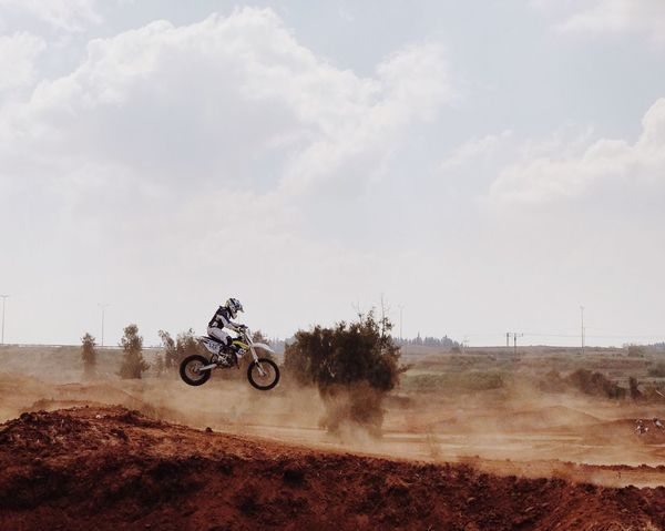 Motorcycle Motocross Motorsport Riding Extreme Sports Land Vehicle Crash Helmet Speed Sports Race Adventure Off-road Vehicle Transportation Real People Mode Of Transport Sky IPhone7Plus The Week On EyeEm Sports Clothing Motorcycle Racing RISK EyeEm Selects מייחדרה מייספורט Shotoniphone7plus מייאייפון7