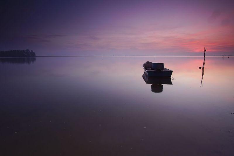 Calmness waters