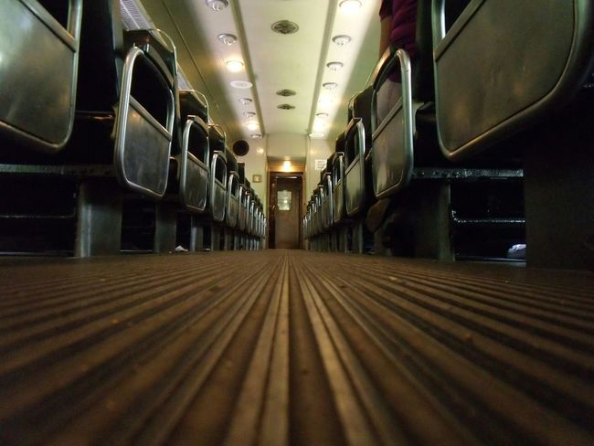 Low Angle View Closeup Trains Isle Seats Seating Close-up Low Shots Low