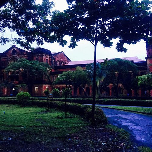 This is the abandoned Secretariat Building (in 1947) where General Aung San (father of Aung San Su Kyi) was assassinated in that year. No one is allowed in the building now. Sneaked a pic from near the fence while a soldier flared at me. EyeEmNewHere Sadness Reflection Barred Security Dark Period Dusk In The City Sombre Dark Past Landmark Heritage Building Historical Building History Aung San Suu Kyi Aung San Secretariat Yangon, Myanmar Architecture Built Structure Building Exterior Outdoors Sky No People EyeEmNewHere An Eye For Travel