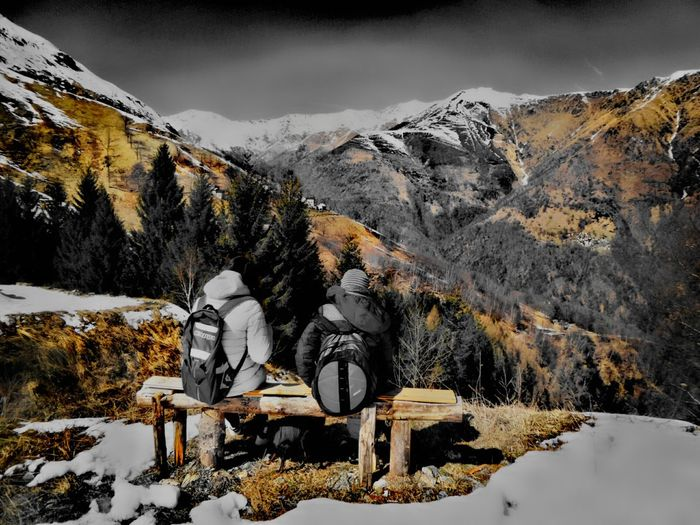 Snow Winter Cold Temperature Nature Mountain Range Beauty In Nature Mountain Scenics Outdoors Vacations Cloud - Sky Landscape Tree No People Sky Day Filter Effects & Filters Colorization Filters Effects Effect Autunno Artistico Autunnodigitale