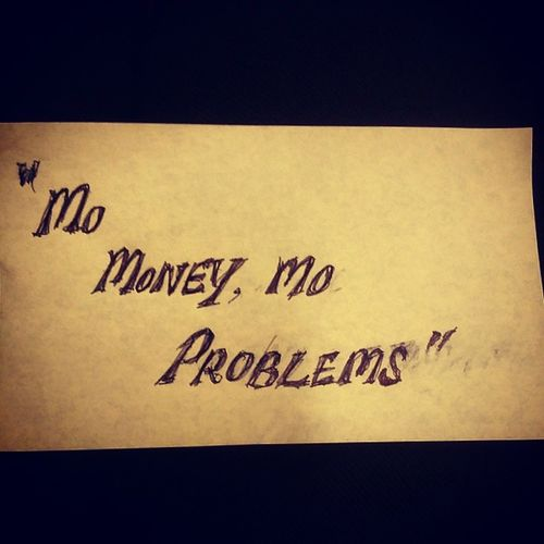 """What i learnt about todays lecture on """"Consumerism"""" 'Mo Money, Mo Problems'"""