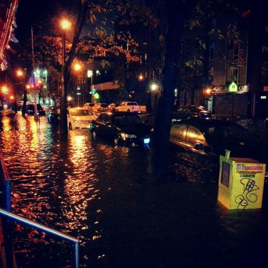 Avenue C is now officially a river. Sandy Eastvillage NYC