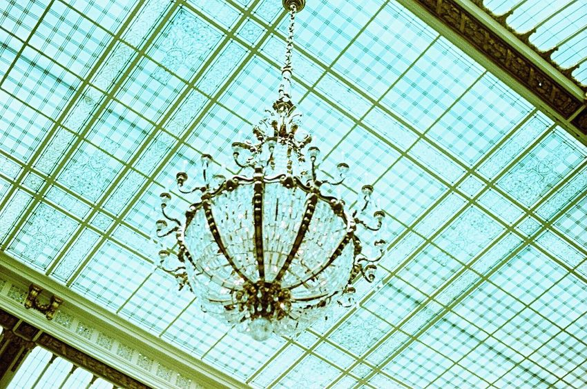Palace Hotel No People Hanging Architecture Indoors  Film Lomo Xpro 100 Koduckgirl Zenit122 Chandelier