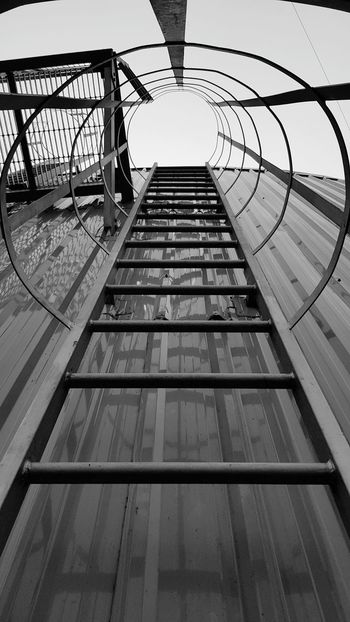 climb of the day Tank Reactor Climb Climbing Effort Mobile Photography Mobilephotography Black And White Light And Shadow Ladder Ladders Vertical Ladder Steel Metal Sky Architecture Steps And Staircases Stairway Railing Hand Rail Stairs Staircase Fire Escape Steps