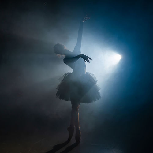 Ballet dancer dancing on stage