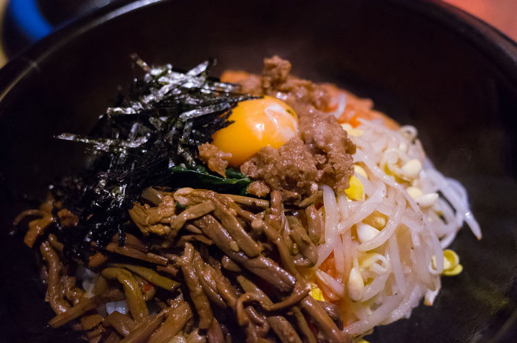 Namul Bibimbap Bowl Close-up Delicious Dinner Eat Egg Food Food And Drink Freshness Healthy Eating Japanese Style Korean Food Korean Rice Dish Mealtime Meat Ready-to-eat Rice Sea Taste Good Vegitables Yakiniku Yakiniku And Drinking Yummy
