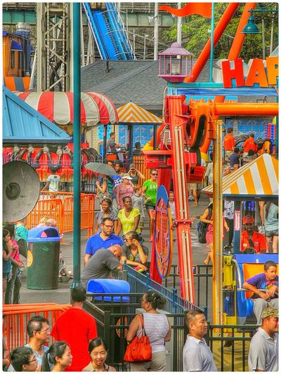 Amusememt Park Carnival Compressed Depth Of Field Fair Large Group Of People Outdoors Real People Telephone