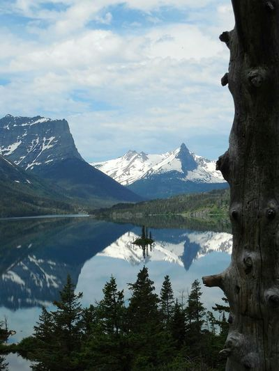 Glacier National Park Water Reflections Mountains And Sky Nature Beautiful Nature