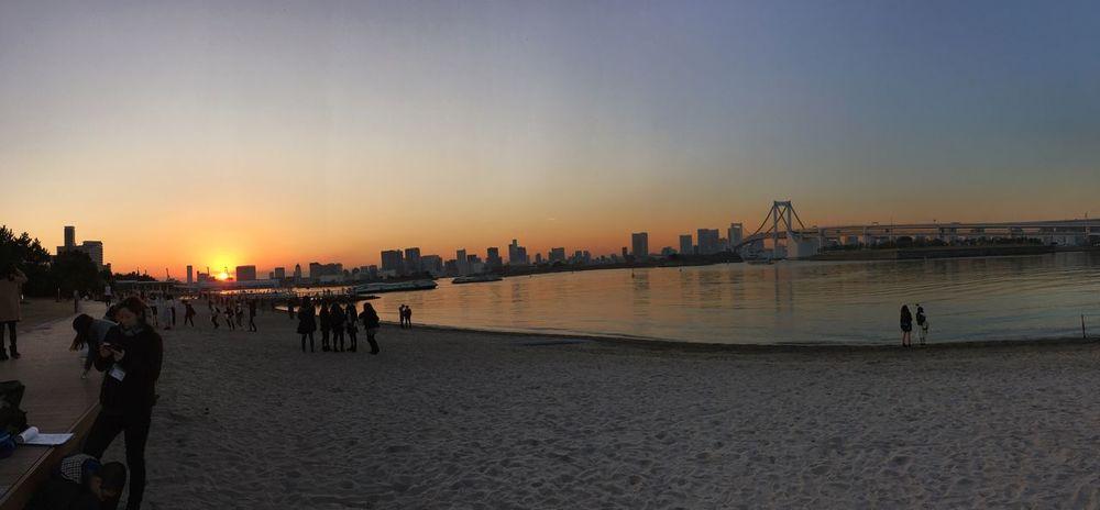 IPhone 6s IPhoneography Tokyo Night Tokyo,Japan Tokyo Sea Odaiba Odaibacity Odaiba Tokyo Sunset Tokyo Sunset