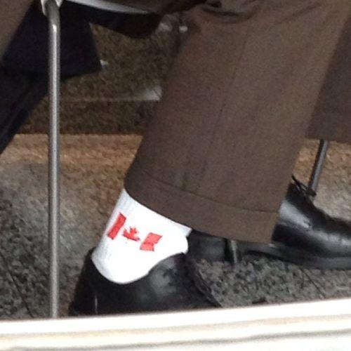 WHO wears socks like that ???