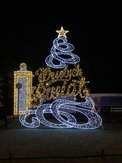 Christmas christmas tree Christmas Decoration Illuminated Celebration Night Decoration