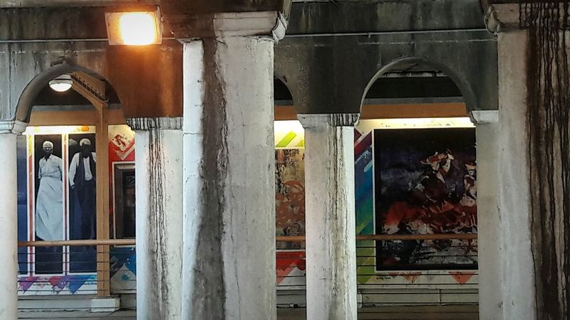 Under the viaduct Streetphotography Architecture Built Structure Outdoor Photography Abstract ArtWork Background Texture One Woman Only One Man Only No People Day
