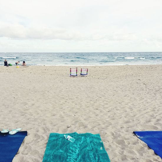 Boytonbeach Beach Sand Flipflops Water Symmetry Balance Sea Sea And Sky Shore Nature Florida Beauty In Nature Peace And Quiet Peaceful Yoga Perspective Personal Perspective Waterscape Ocean Ocean View Towels Waterbottle Getaway  Vacations