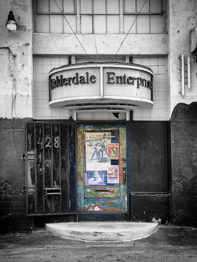 DTLA Blackandwhite Building Exterior Built Structure Day Door Dtla Art District Outdoors