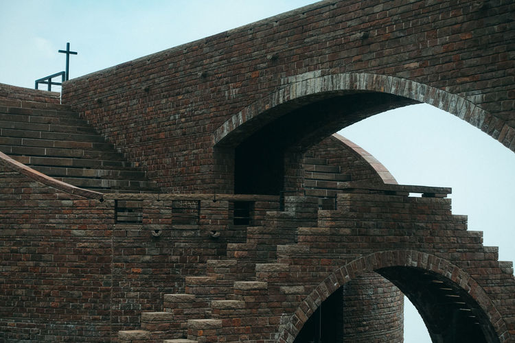 Mario Botta Monte Tamaro Travel Travel Photography Arch Arch Bridge Architecture Brick Brick Wall Bridge Bridge - Man Made Structure Building Building Exterior Built Structure Connection Day History Low Angle View Nature No People Outdoors Rivera Sky Switzerland The Past Travel Destinations Wall Wall - Building Feature
