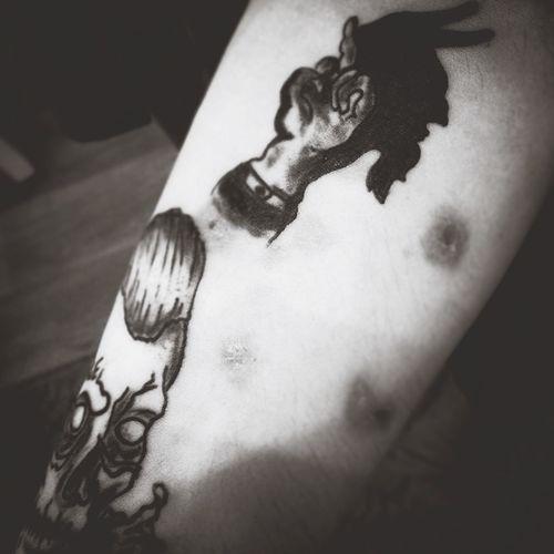 Hello World Home Tattoo Tattoo Black Tattoo Tattoo ❤ Blackandwhite Hello World Black & White Helloworld Black