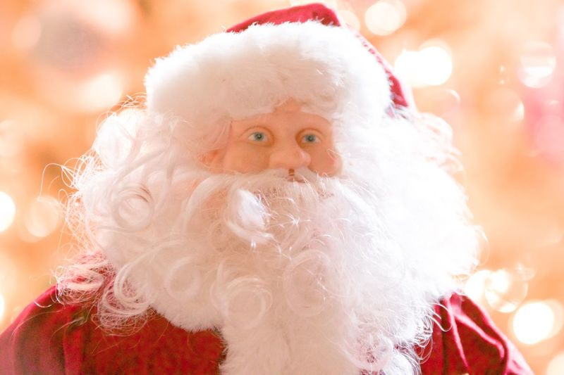 Stock Photography One Person Cute Childhood Indoors  Tradition Close-up Christmas Ornament Holiday - Event Red Christmas Decoration Christmas Tree Santa Hat Costume Portrait Celebration Looking At Camera Christmas EyeEm Selects Santa Clause White Beard Santas Face Here Comes Santa Family Time Togetherness Children