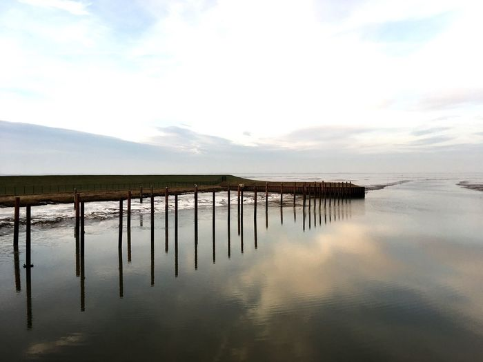 Frisia Water Sky Reflection Tranquility Scenics Sea Waterfront Wadden Sea Dangast Tranquil Scene Northsea Horizon Over Water