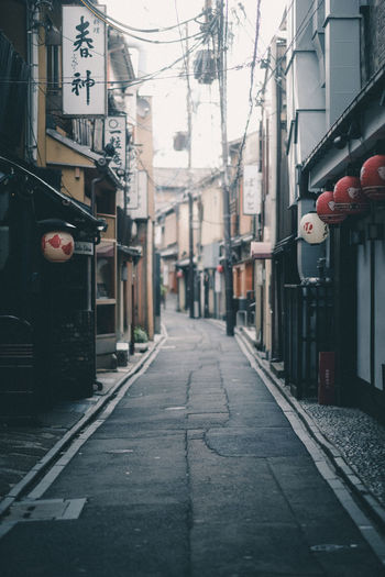 Pontocho // IG: @taromoberly City Street Road Alley Japan Japan Photography Japanese Street Travel Travel Destinations Travel Photography Pontocho Kyoto Building Exterior No People The Way Forward Japanese Culture Culture Traditional Tradition
