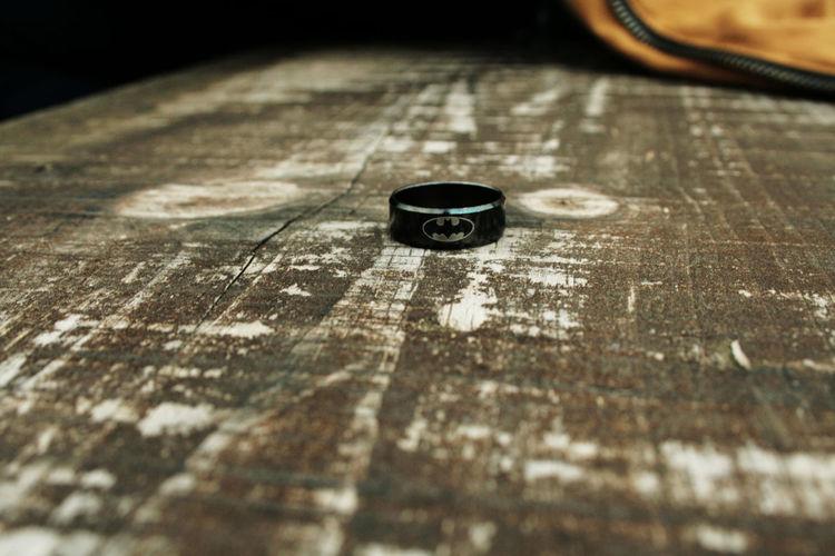 Batman Black Close-up Jewelry Nature Ring Table Wood